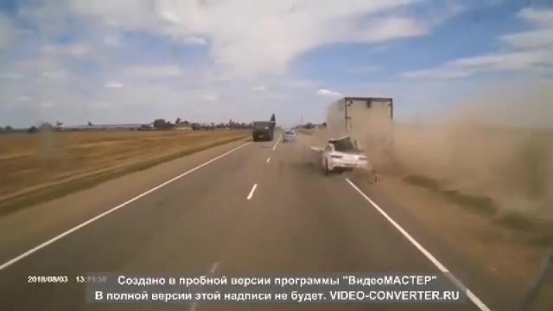 Момент смертельного ДТП Mercedes Benz S63 AMG под Кропоткином