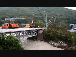 Ремонт моста через р. Макопсе, 25 октября