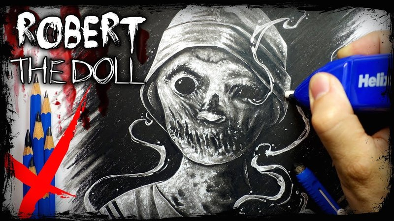 The Twisted True Story of Robert the Doll Eraser Only Horror Drawing Art Challenge