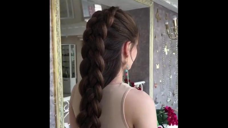 Объёмная коса чудесное украшение