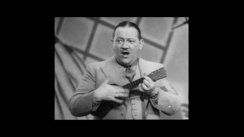 Vaudeville Entertainer Bobbie Uke Henshaw Plays His Ukulele