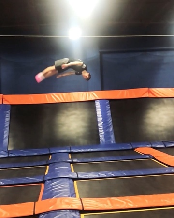 "Ryan McMaster on Instagram ""Finally did this flip🔥 felt so weird😂😂 flips flipsup2date grt skyzone insane fail wt23 wallflips failatthe..."