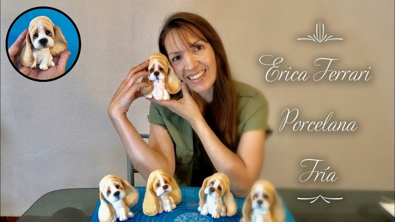 Erica Ferrari Porcelana Fría | Cachorro Batata Orejas | Clase gratuita | Tutorial | Paso a Paso