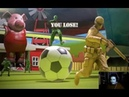 The Mean Greens Plastic Warfare Barnyardball fotbal 2 vs 1