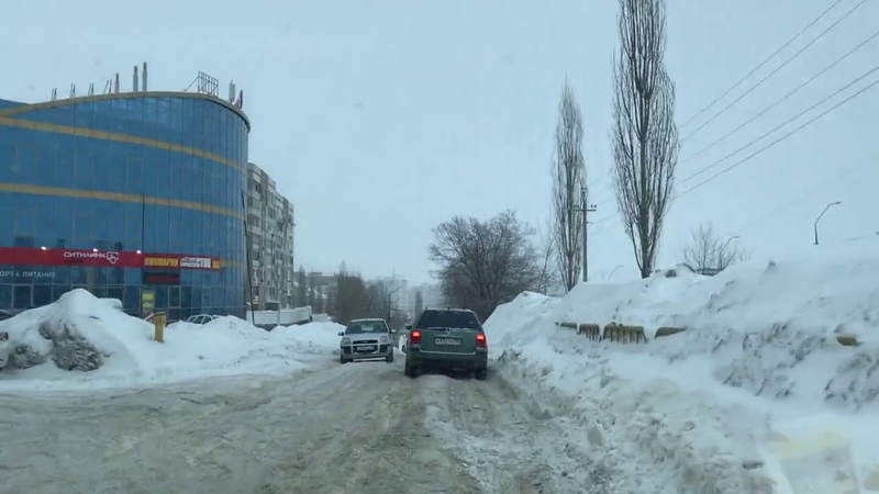 Дорога в Юбилейном после очистки - вся в колеях и ледяных кочках