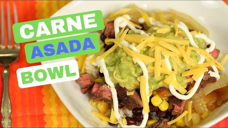 Carne Asada Bowl | The Best Carne Asada Marinade | Rockin Robin Cooks