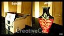Cardboard Vase/Cardboard upcycling idea/Best out of waste