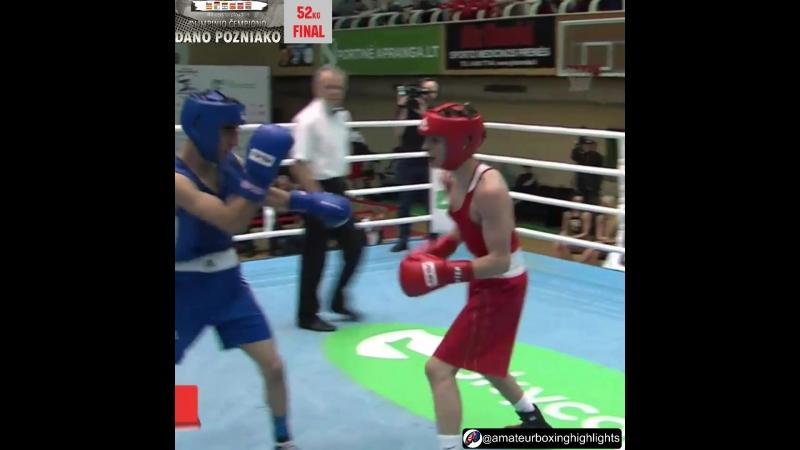 Иван Шишенин 52кг - Финал, Вильнюс, Литва, юниоры 2000-2001г.р.