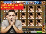 TOP HUGE WINS ON THE STREAM - casino slots Reactoonz, Jesters Crown, Golden Ark
