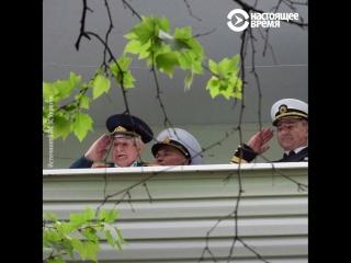 Оркестр поздравляет ветерана в Одессе 9 мая