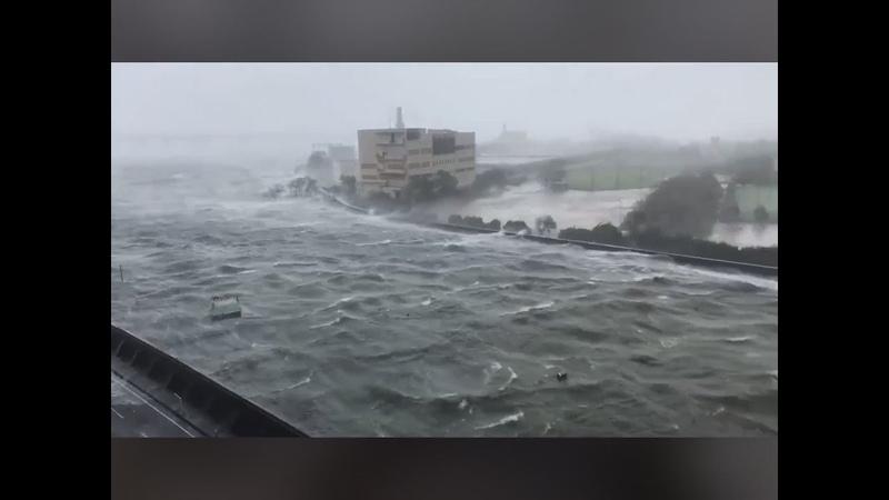 -Typhoon Jebi HIT Osaka Western Japan- 942018【台風第21号】ツイッター動画まとめ 【被害甚大】