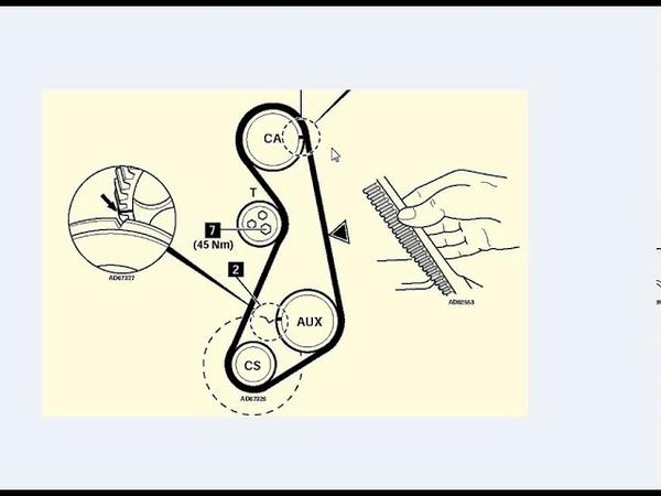 как выставить ремень грм по меткам ауди 80 VW пассат