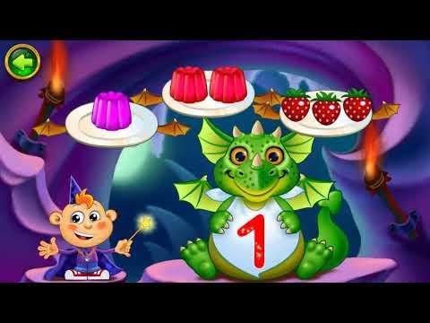 Цифры для детей - дошкольников 1, 2, 3. Счет до трех. Волшебный счёт. Видео для детей.