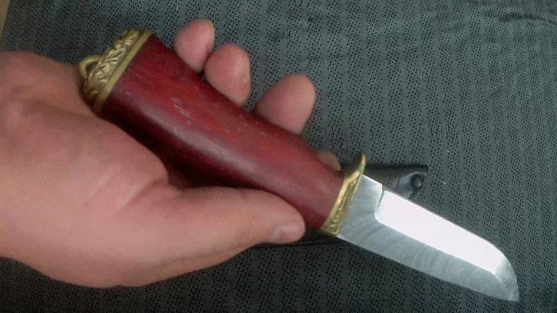 Нож Клык (дамасская сталь, падук) www.korenok.ru