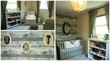 NURSERY TOUR! Neutral Gray &amp White Rustic Baby Boy's Room