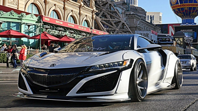 Public Reaction To The INSANE Liberty Walk 2017 Acura NSX Loud ARMYTRIX Exhaust Downtown Vegas
