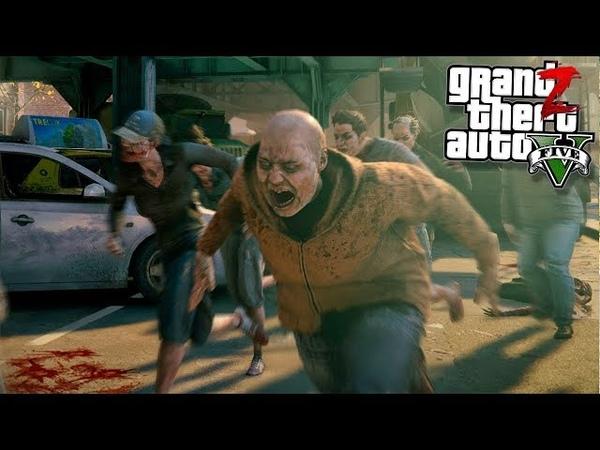 GTA 5 Зомби Апокалипсис - ТОЛПА ЗОМБИ УНИЧТОЖИЛА БАЗУ ЛЮДЕЙ В ГТА 5 МОДЫ 28! GTA 5 ОБЗОР МОДА ВИДЕО