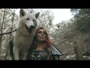 PLAYING WITH REAL WOLVES! SKYRIM COSPLAY video cosplay redhead boobs warrior archer JessicaNigri fantasy