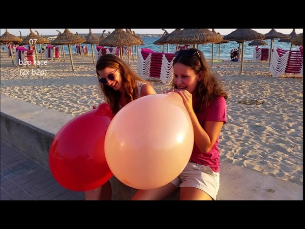 Balloon girls Mallorca playa - 11 Clips