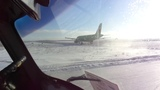 Taxiing and take-off Airbus A319 Siberia airlines S7