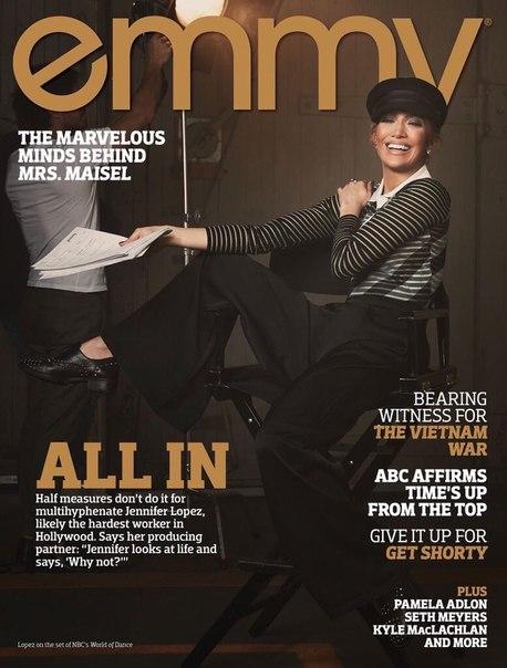 """Дженнифер Лопес в съемке для журнала """"Emmy Magazine"""" / 2018"""