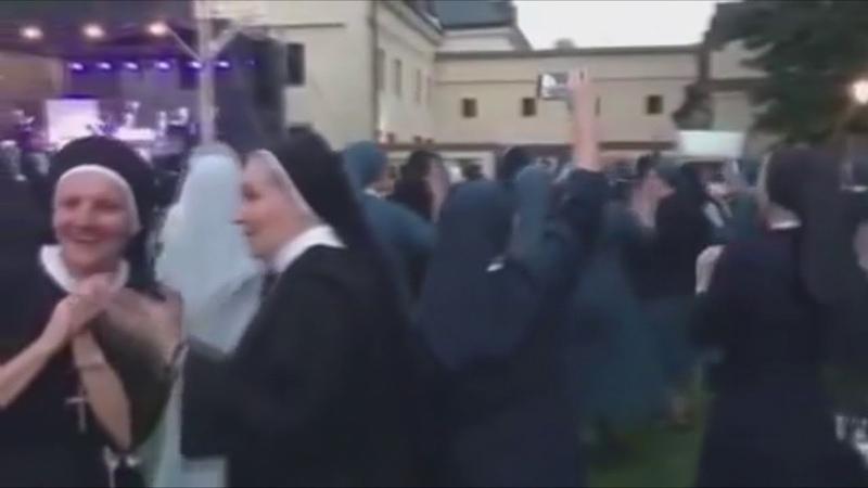 Nuns dancing Meshuggah
