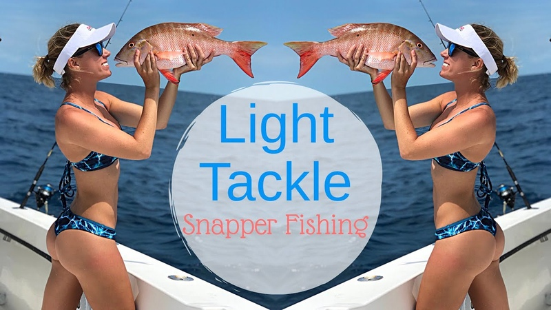 Girls Light TACKLE Reef fishing for SNAPPER in Key West » Freewka.com - Смотреть онлайн в хорощем качестве