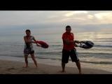 Bulgarian Bag in Alicante,,,Morning training on the Beach San Juan