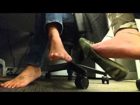 Coworker toe time!