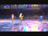 Ирина Слуцкая и Фиксики поздравили с Новым годом наших ребят. Ёлка главы прошла в ледовом дворце спорта Кристалл.