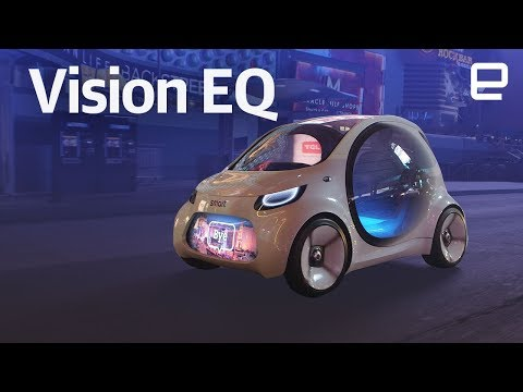 Mercedes Smart Vision EQ fortwo hands-on at CES 2018