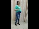 Джинсы Эльген для беременных светло-синие