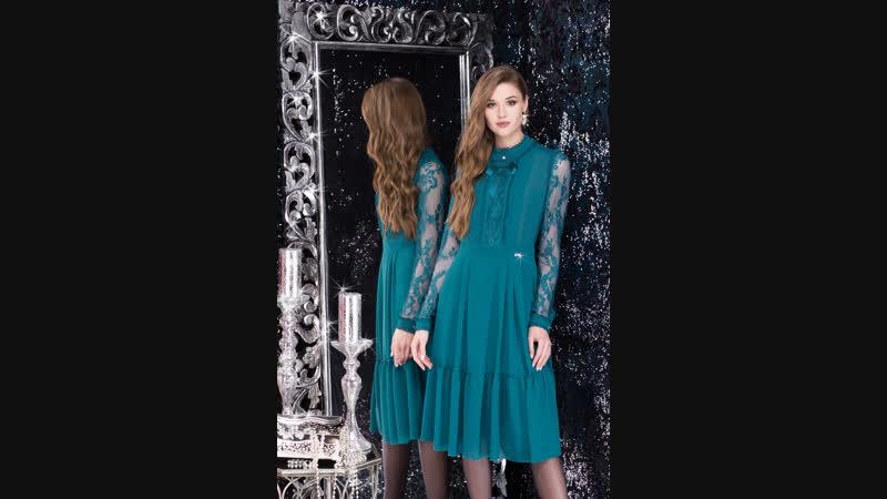 Лената 11891 платье (темно-бирюзовый)