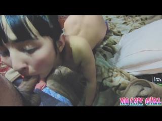 Asian teen suck cock with pleasure, beautiful blowjob pov
