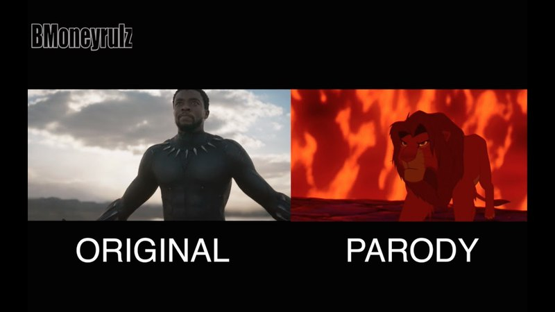 'BLACK PANTHER' Trailer Side-By-Side W/ 'LION KING'