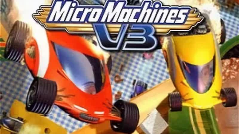 Micro Machines V3 WalkthroughGameplay PSone HD - (aneka.scriptscraft.com) 720p