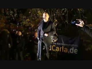 Sven Liebich bei Pro Chemnitz Demo zur Verabschiedung von Kanzlerin Merkel