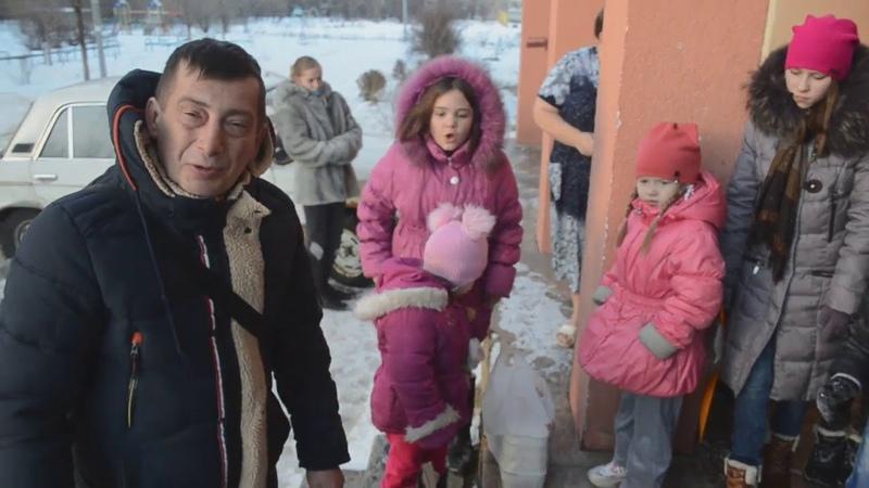 Поздравление деток прифронтовых районов Донецка от жителя России