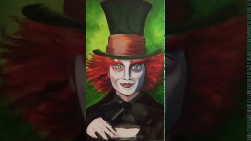 Мини видео Шляпник Картина маслом МК