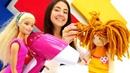 Видео для детей Веселая школа! Парикмахерская куклы Барби