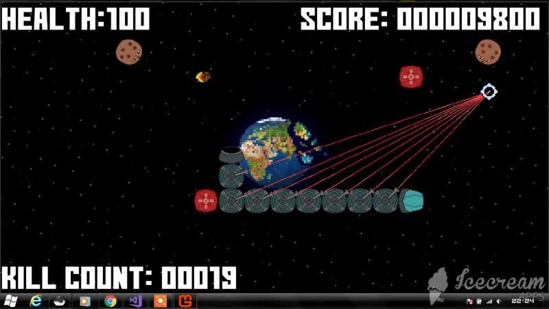 S.N.A.K.E vs Planetroids v0.3 BETA - Gameplay