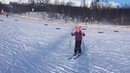 Катя на лыжах февраль 2019г