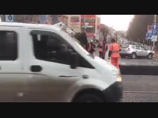 Асфальт под дождик. Ульяновск