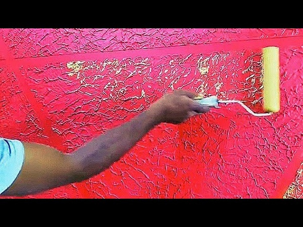 Wall texture design red colour (Aasif Ali..8923205965