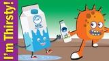I'm Thirsty! Drinks Song for Kids Kindergarten, Preschool &amp ESL Fun Kids English