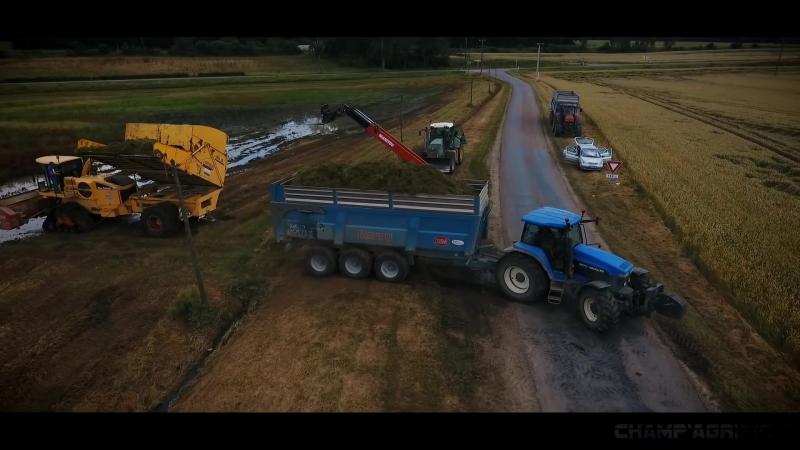 Уборка кормовых трав с применением гусеничного хода Poluzzi