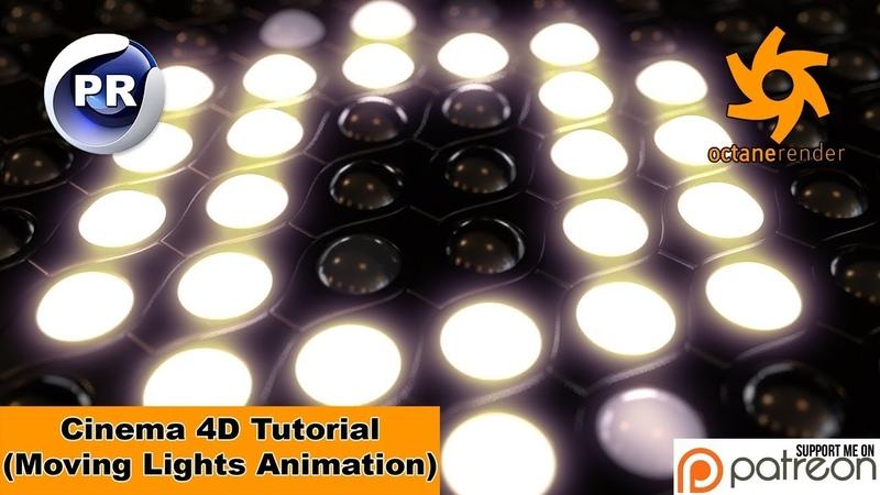 Moving Lights Animation (Cinema 4D Tutorial)