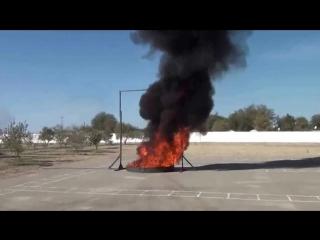 Демонстрация модуля порошкового пожаротушения Тунгус