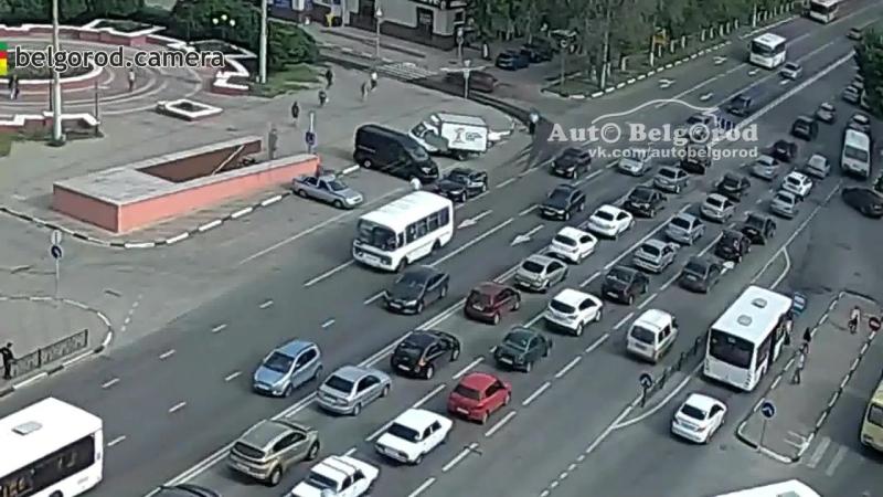 Белгород наезд на инспектора ДПС