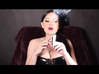ABBIE CAT SMOKING IN LATEX